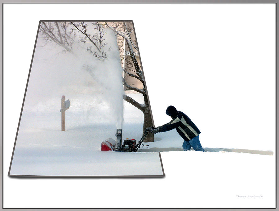December Photograph - Snow Blower by Thomas Woolworth
