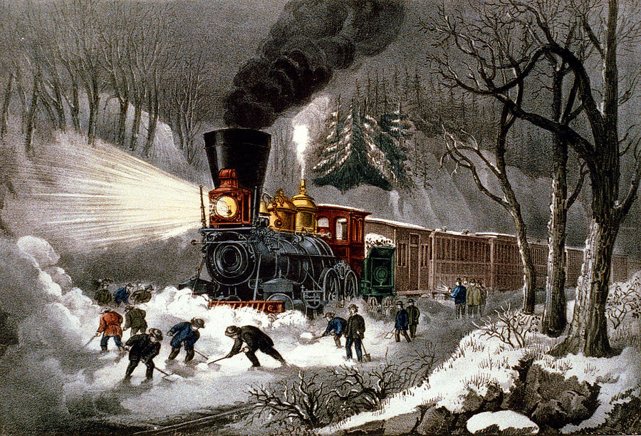 Currier And Ives Digital Art - Snow Bound by Currier and Ives