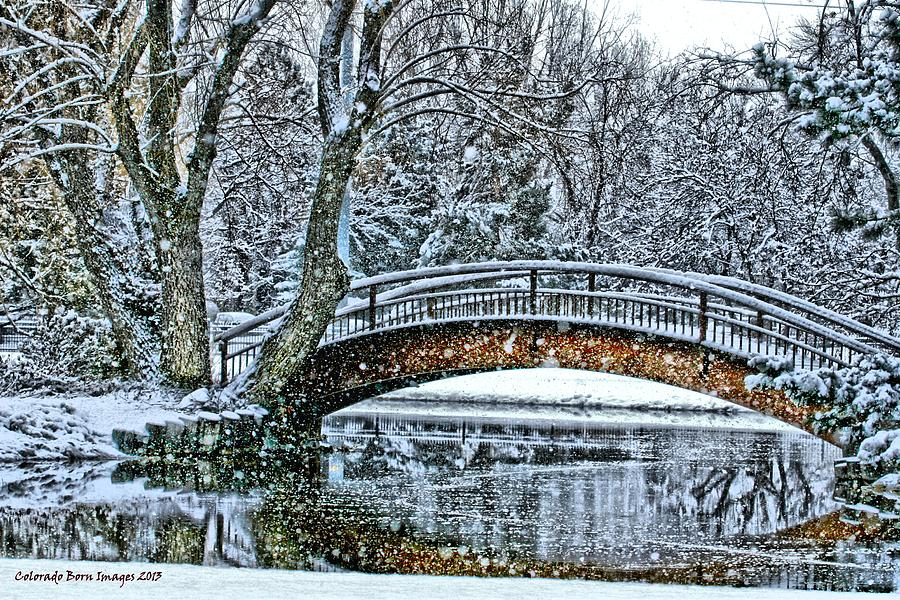 Snow Photograph - Snow Bridge by Rebecca Adams