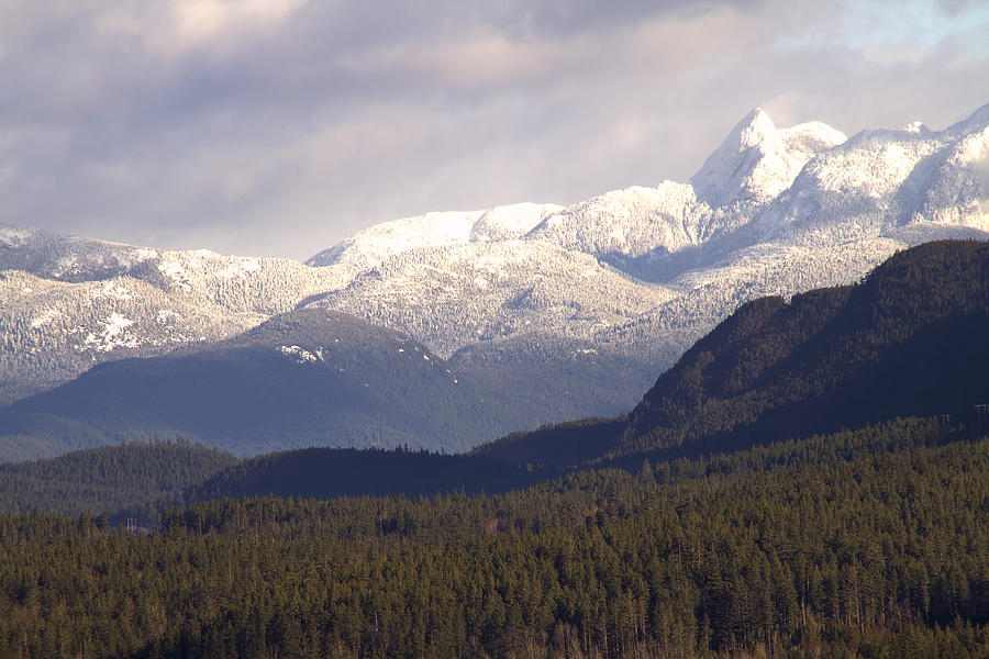 Mountains Photograph - Snow Capped Mountains by Peggy Collins