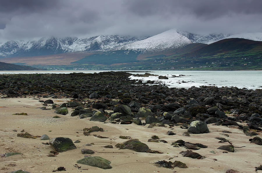 Snow Covered Mountains Near Fermoyle Photograph by Trish Punch / Design Pics