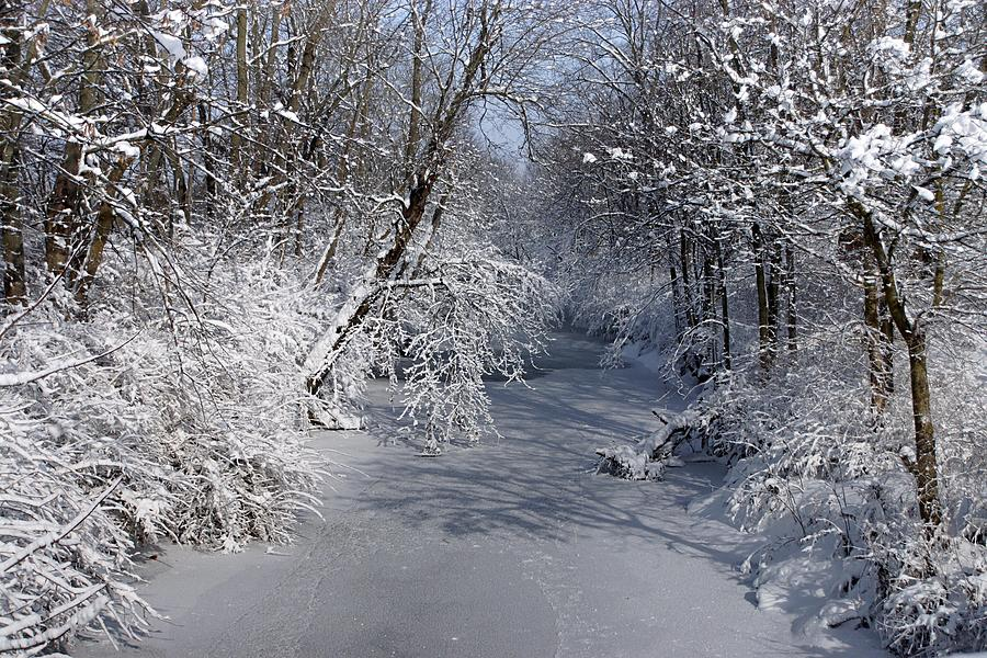 Winter Photograph - Snow Covered River by Thomas Fouch