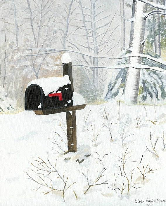 Snow Painting - Snow Day by Gloria Patrick Sumter