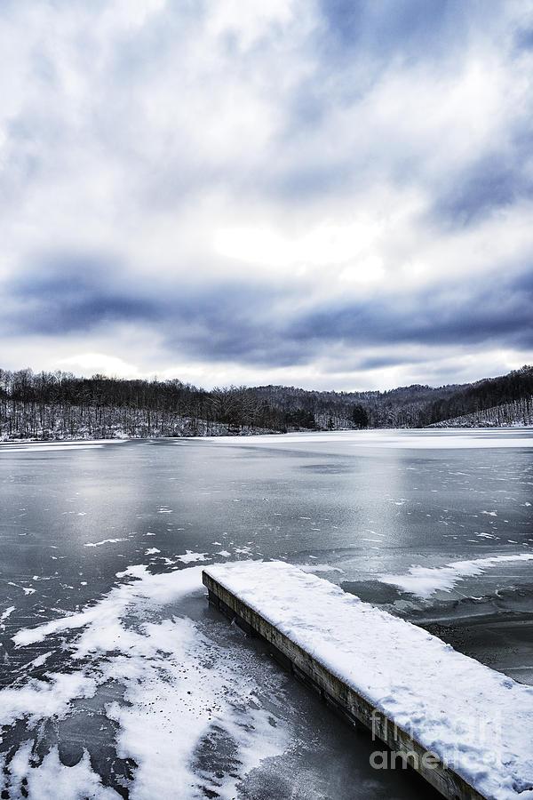 Snow Photograph - Snow Dock Frozen Lake by Thomas R Fletcher