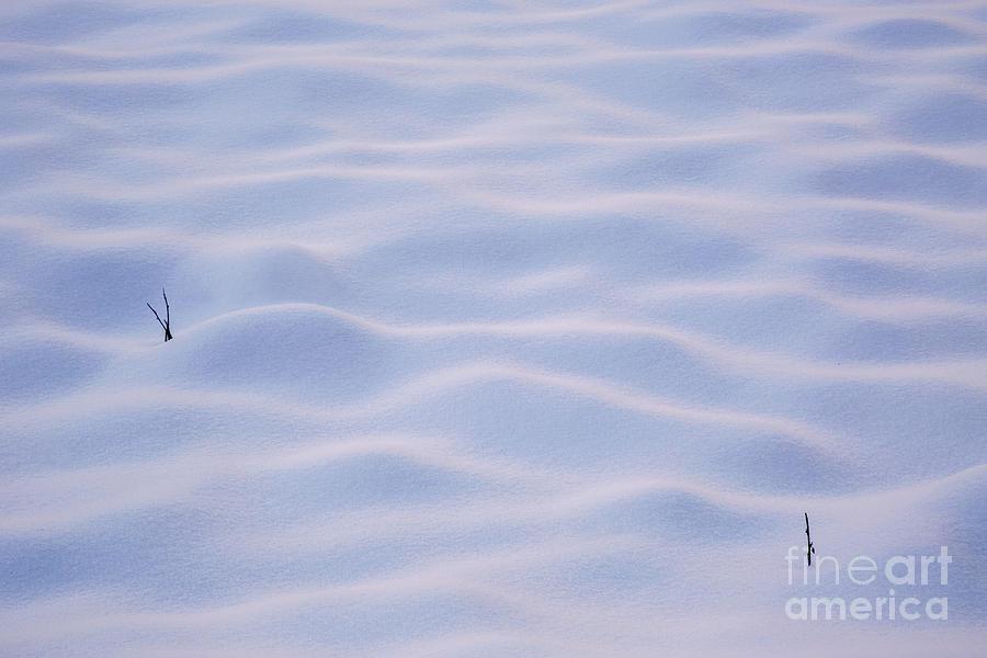 Travel Photograph - Snow Dunes In Yosemite California by Julia Hiebaum