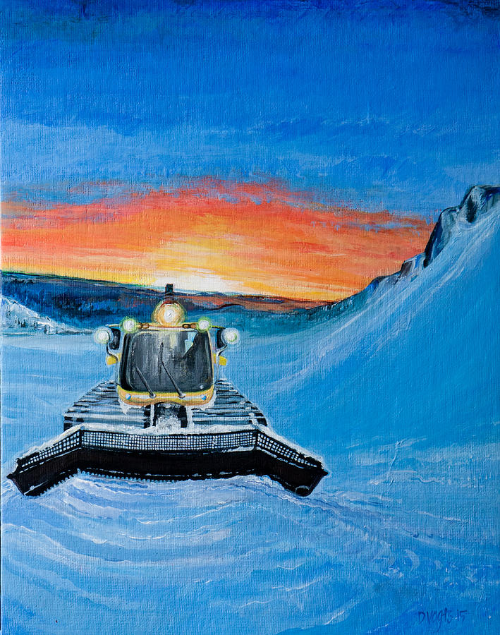 Manitoba Painting - Snow Grooming Magazine Cover by Dawn Vagts