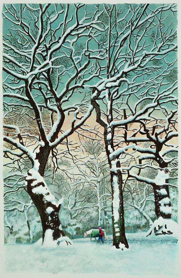 Snow In Forest Digital Art by Georgette Douwma