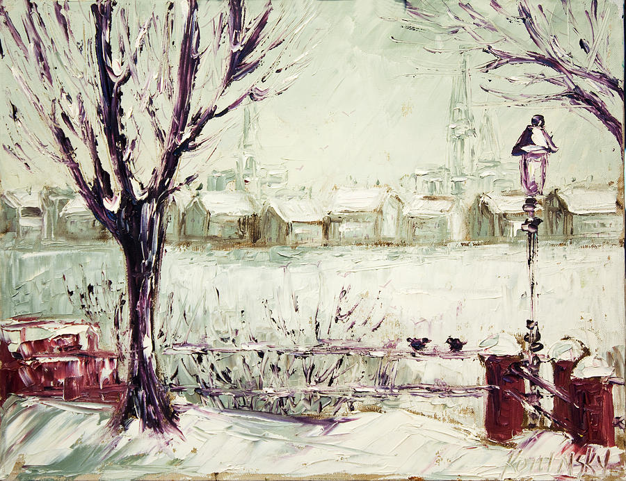Nancy Painting - Snow in Hamburg Paint Along with Nancy PBS by Michaelalonzo Kominsky