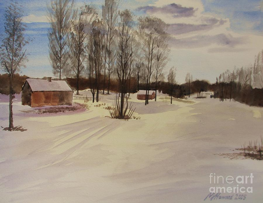 Impressionism Painting - Snow In Solbrinken by Martin Howard
