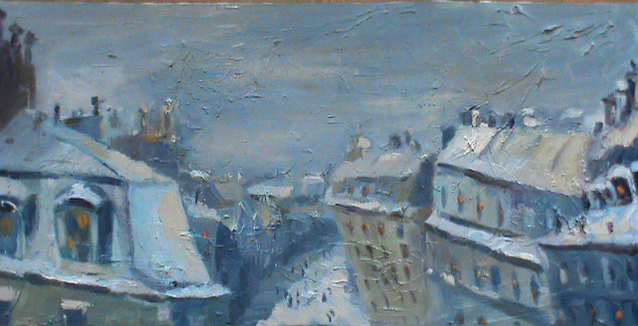 All Painting - Snow Is Paris by NatikArt Creations