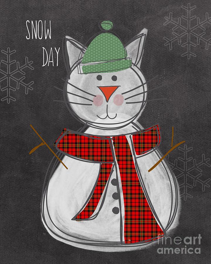 Snow Kitten Painting