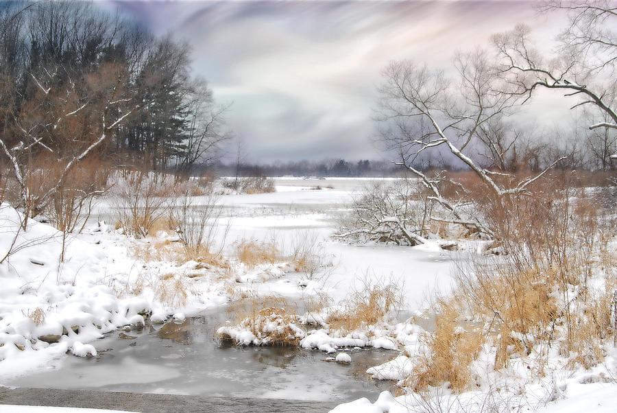 Winter. Snow. Lake Photograph - Snow Lake by Mary Timman