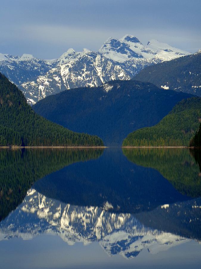 Alouette Lake Mountain Mirror - Golden Ears Prov. Park, British Columbia Photograph