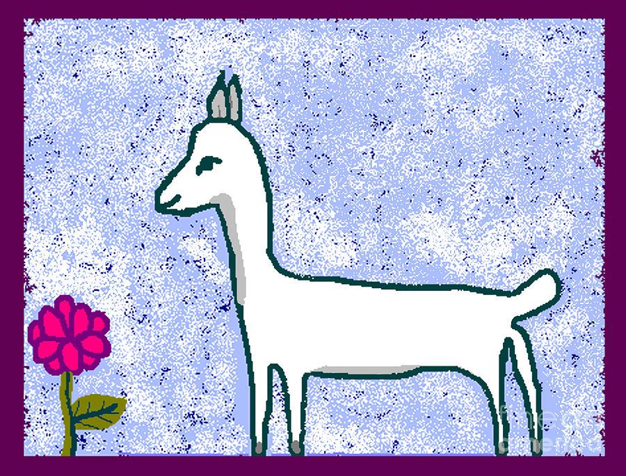 Pure Digital Art - Snow Lamb by Meenal C