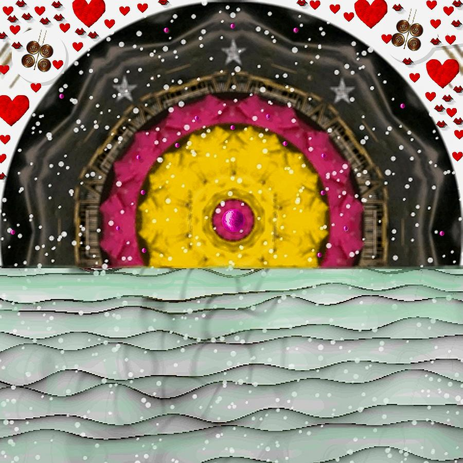 Landscape Mixed Media - Snow Love Pop Art by Pepita Selles