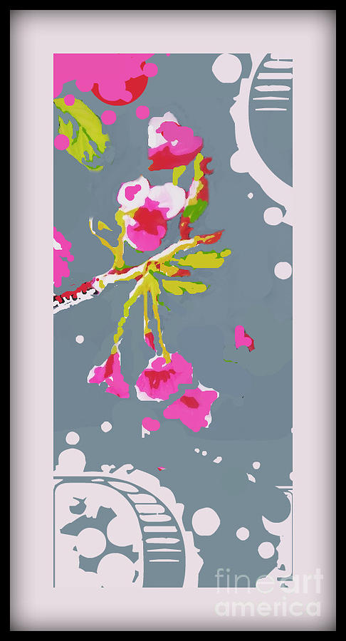 Ctee Mixed Media - Snow On Cherry Blossom by Wendy Wiese
