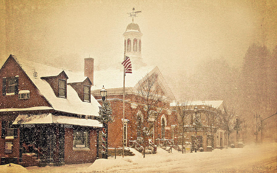 Landscape Photograph - Snow On Main Street Chagrin Falls Oh by Dorothy Walker