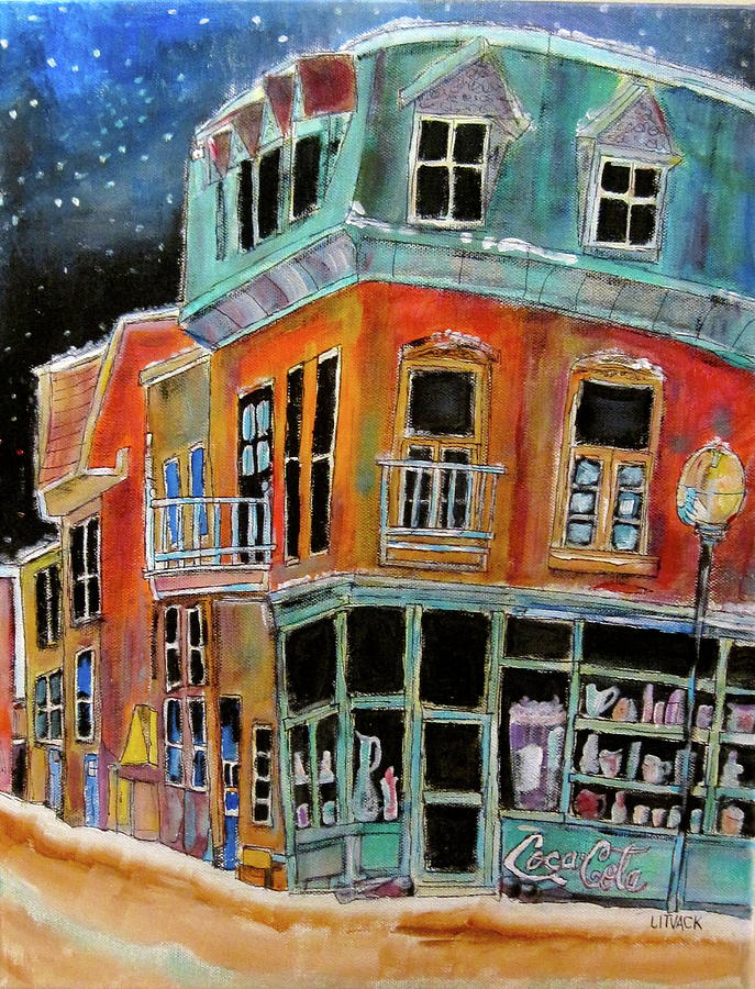 Montreal Painting - Snow On Notre Dame by Michael Litvack