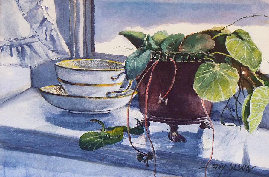 Watercolor Painting Painting - Snow Outside The Window by Joy Nichols