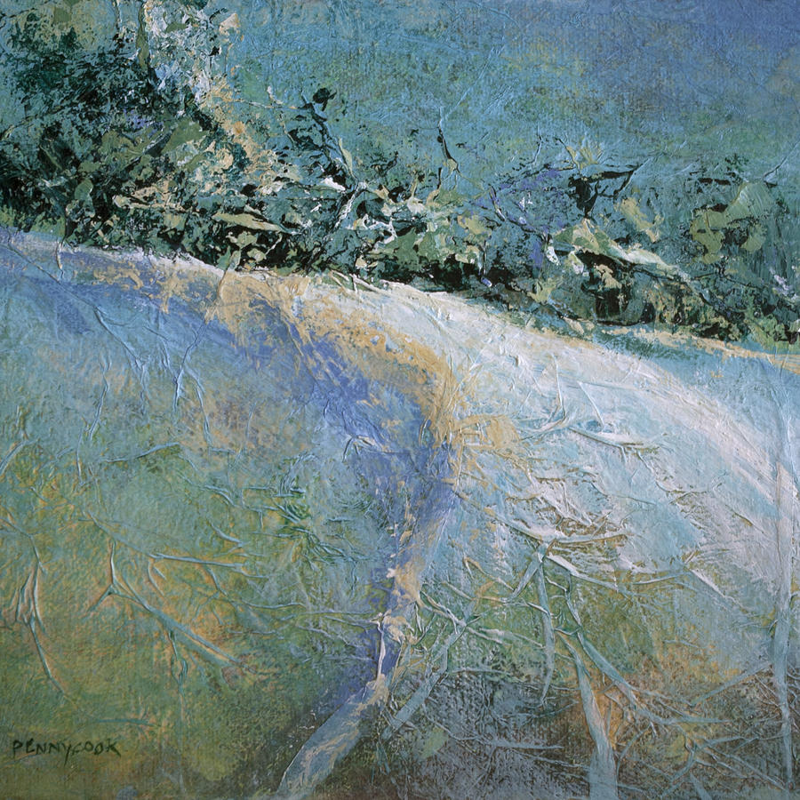 Landscape Painting - Snow Pasture by Bob Pennycook