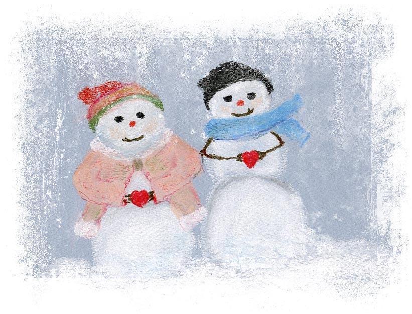 snow couple by Barbara Gulotta