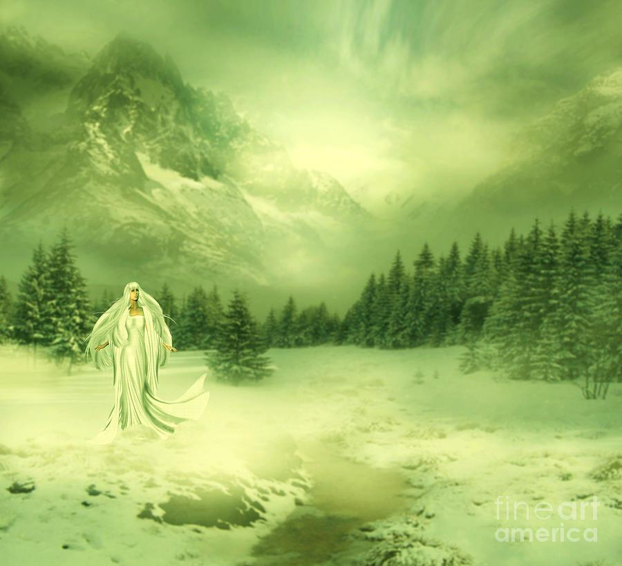 Manipulation Digital Art - Snow Queen by Ester  Rogers