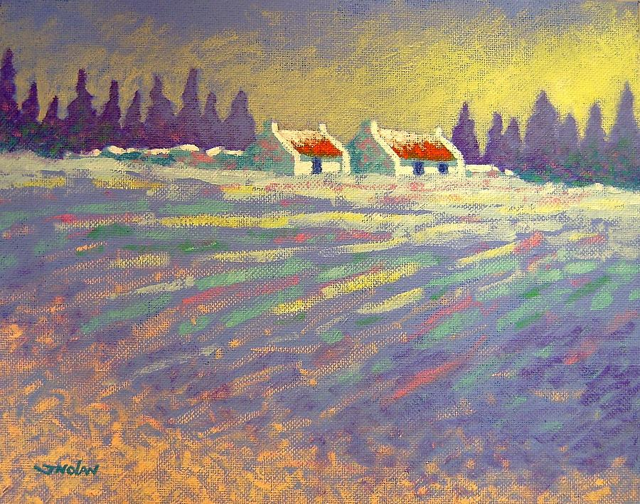 Ireland Painting - Snow Scape County Wicklow by John  Nolan