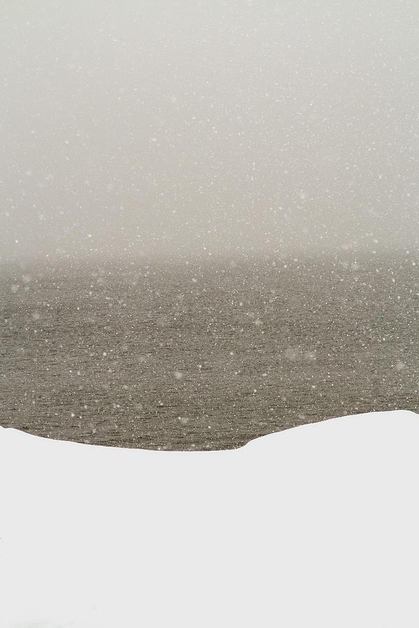 Snow Photograph - Snow Sea Sky by Joseph Hedaya