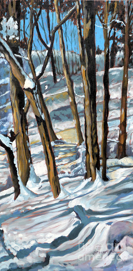 Winter Landscapes Painting - Snow Shadows by Joan McGivney