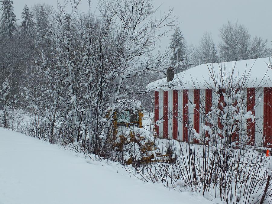 Snow Storm Photograph - Snow Storm 2 by Gene Cyr