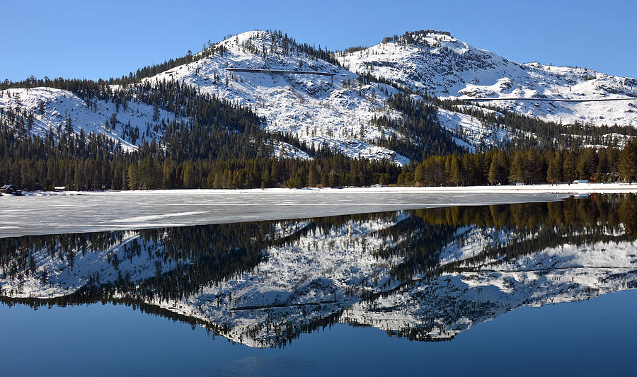 Mountain Photograph - Snow Top by Michael Brown