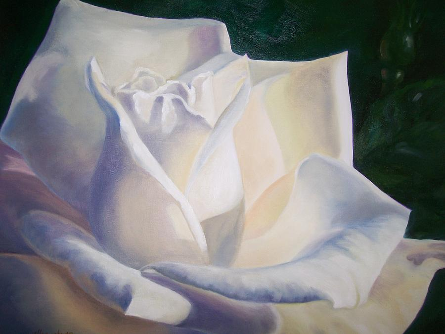 Snow White Painting by Ellen Ebert