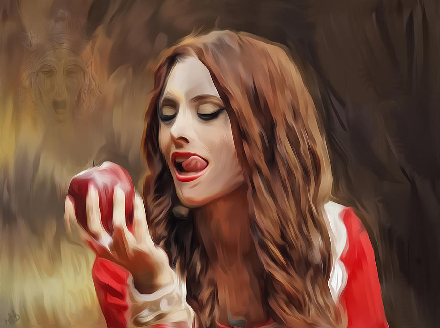 Apple Digital Art - Snow White by Hazel Billingsley