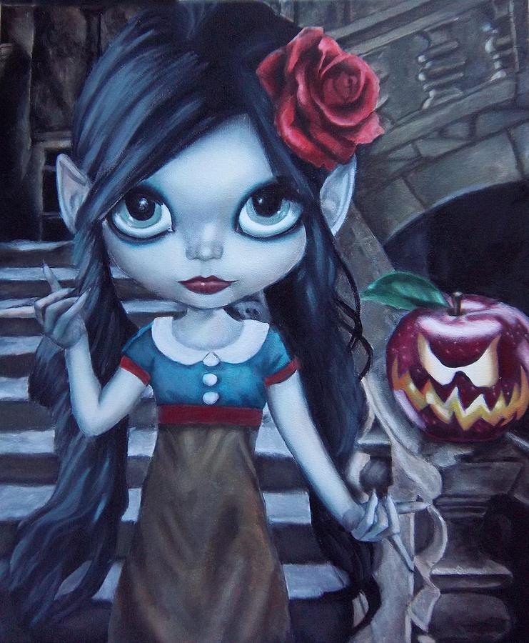 Vampire Painting - Snow White by Lori Keilwitz