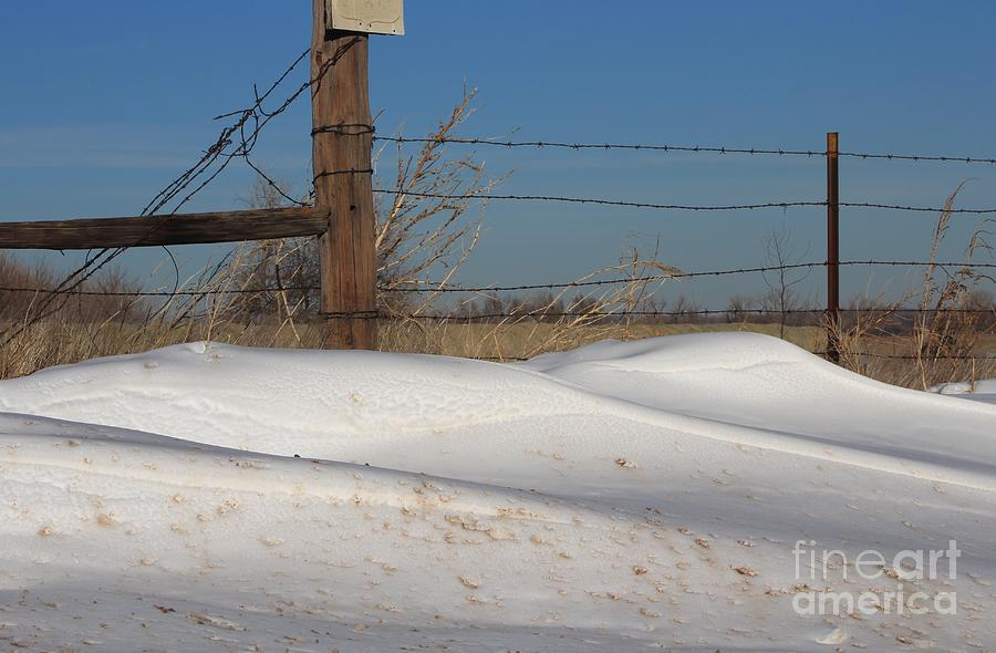 Snow Photograph - Snowbank On A Country Road by Robert D  Brozek
