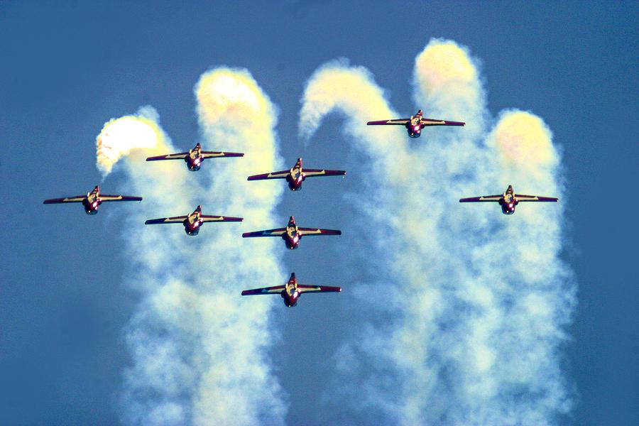 Aviation Photograph - Snowbirdas Inverted by Frank Savarese
