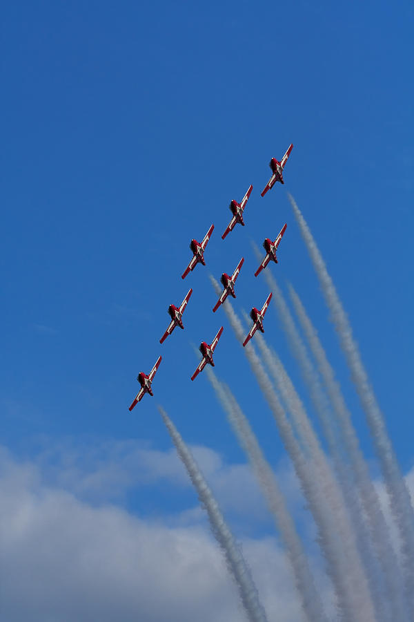 Snowbirds Photograph - Snowbirds Performing by Matt Dobson