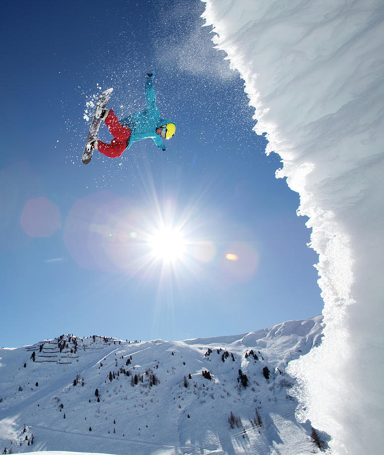 Snowboarder Doing An Awesome Jump Photograph by Chris Tobin