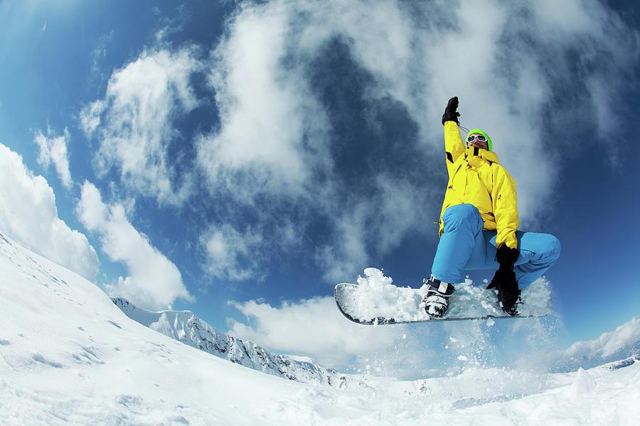 Snowboarding Photograph by Yulkapopkova