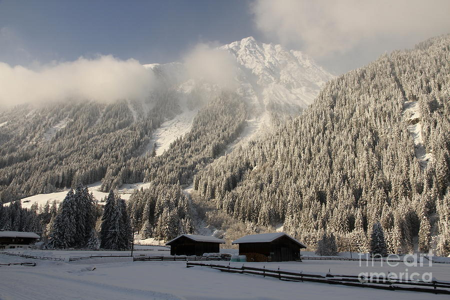 Snow Photograph - Snowbound Valley by Christiane Schulze Art And Photography