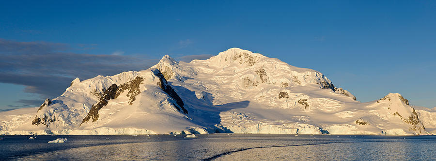 Color Image Photograph - Snowcapped Mountain, Andvord Bay by Panoramic Images