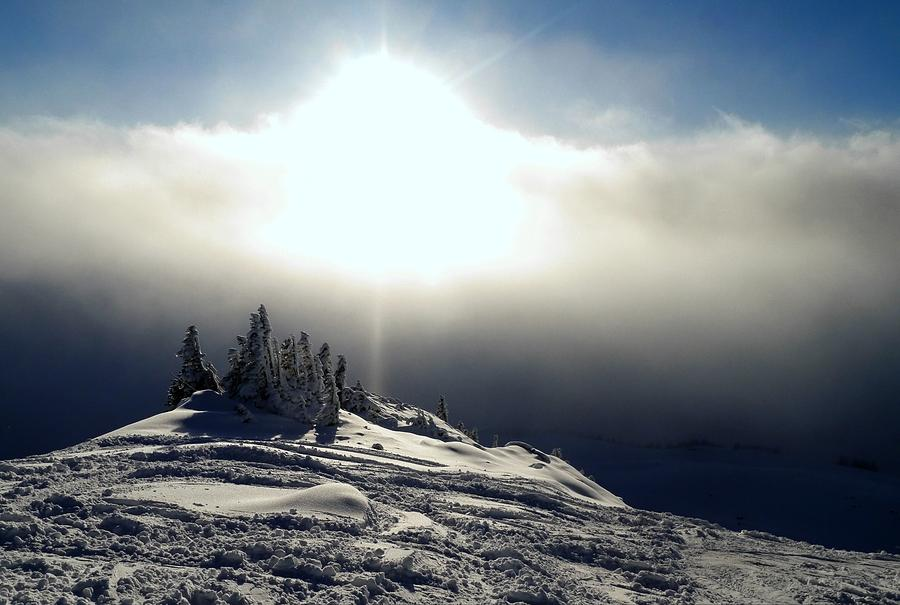 Snowcloud Sunburst by Peter Mooyman