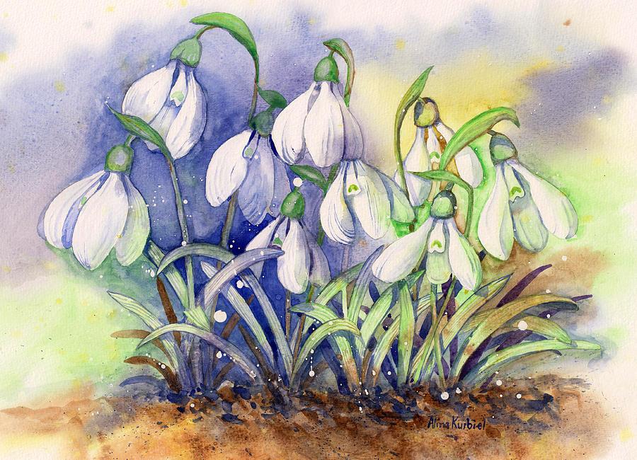 Рисунки подснежники весной картинки