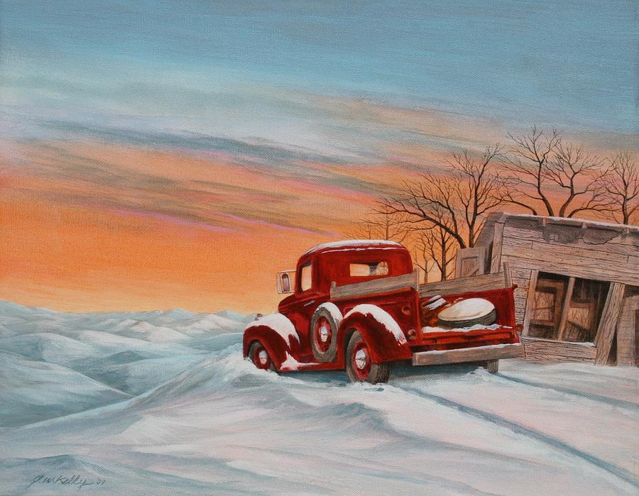 Landscape Painting - Snowed-In 2 by J W Kelly