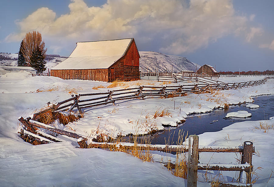 Barn Photograph - Snowed In by Priscilla Burgers