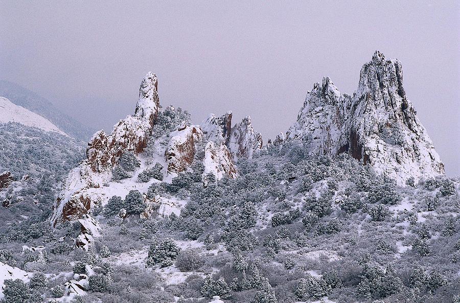 Snowfall Garden Of The Gods Colorado Springs Co By Don Grall