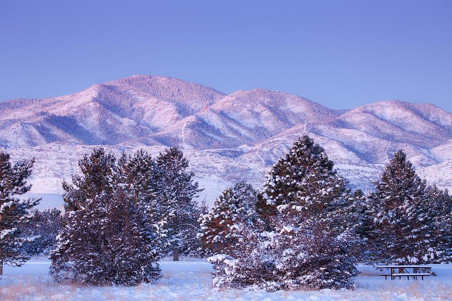 Snowfall Sunrise Photograph