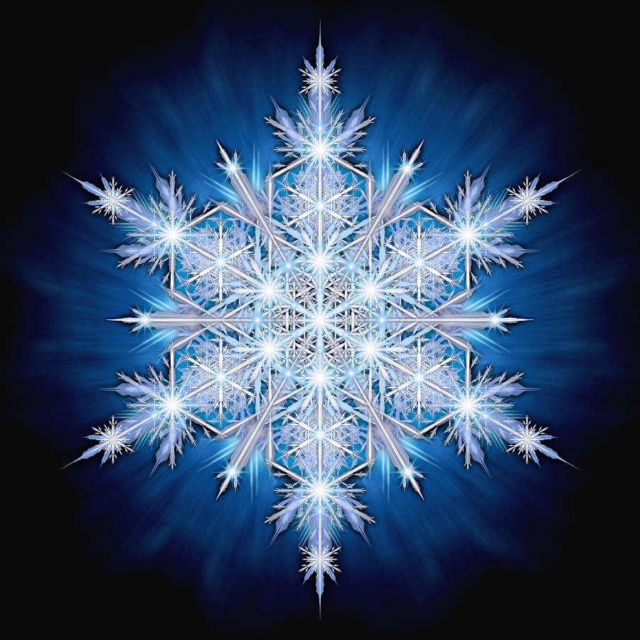 Ice Photograph - Snowflake - 2013 - A by Ricky Barnes