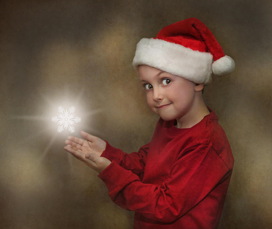 Children Photograph - Snowflake Elf by Pat Abbott