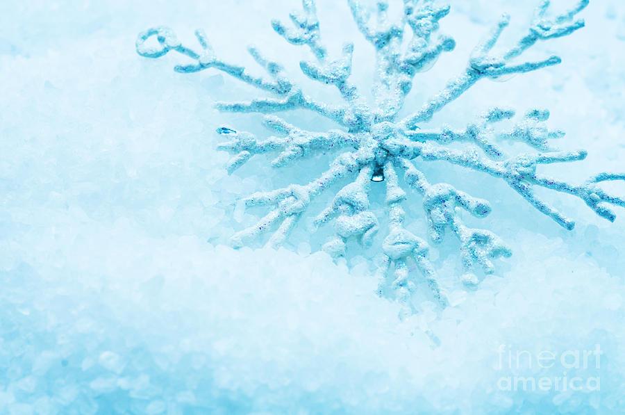 Snow Photograph - Snowflake In Snow by Michal Bednarek
